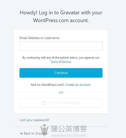 为WordPress上传Gravatar头像